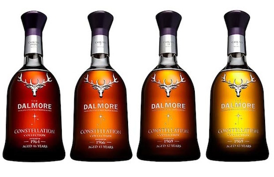 The Dalmore Constellation Collection – THE 60s Set, featuring four of the world's rarest single malt whiskies. Available exclusively at the British Columbia Liquor Distribution Branch (CNW Group/The Dalmore Constellation Collection)
