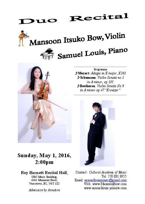 May recital poster english