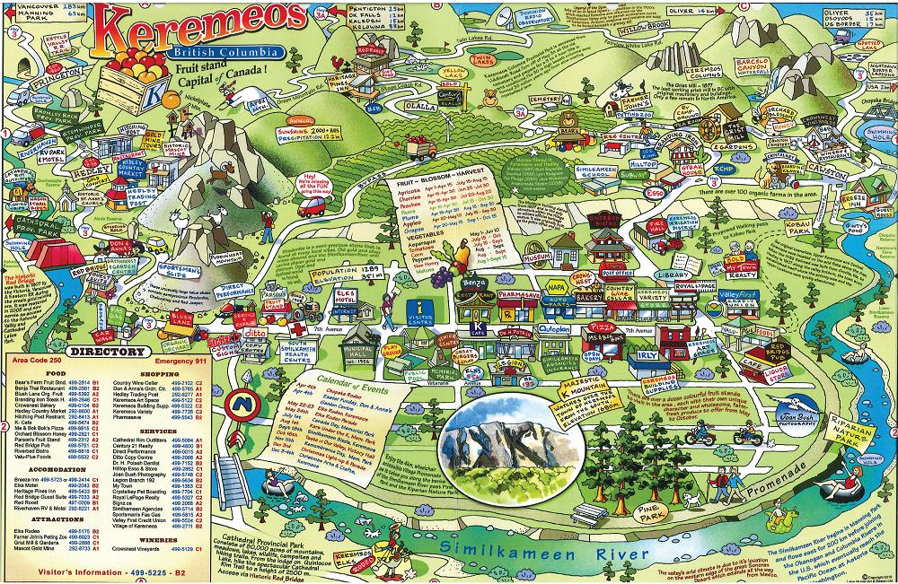 Keremeos Illustrated Map1