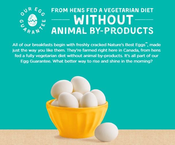 卵を産む鶏には動物性の飼料は与えていません。